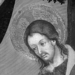 Detail tete de christ cataluna 1400 lluis borrassa el gotico internacional bd p
