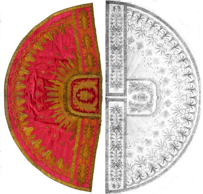 Figure 11 : comparaison chape tissée et son dessin
