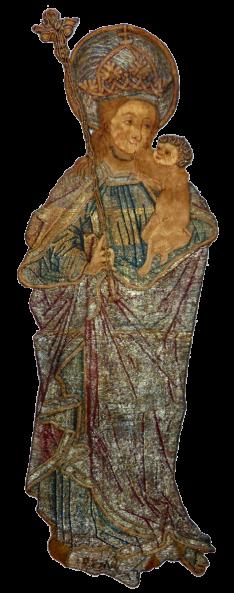 Vierge a l enfant xv entier transparent